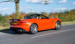Jaguar F-Type SVR Convertible - rear three quarter