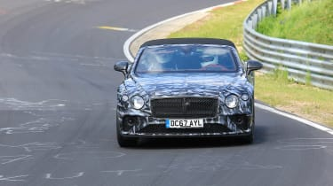 Bentley Continental GT C spy 2018 - nose