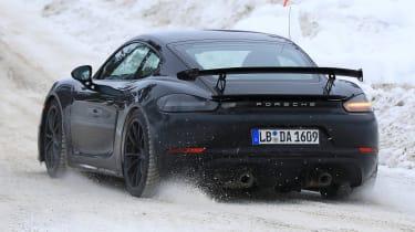 Porsche 718 Cayman GT4 spy - back