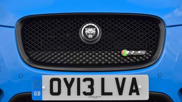 Jaguar XFR-S black grille badge