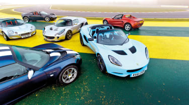 Lotus Elise group test