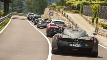 Pagani Gathering traffic jam