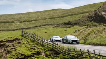 Bentley Continental GT V8 and Aston Martin Vantage
