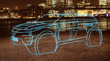 2019 Land Rover Evoque wire frame night front
