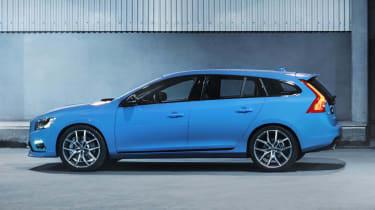 Volvo V60 Polestar blue side profile