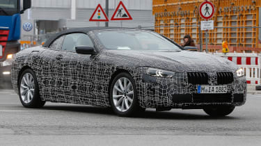 BMW 8-series Cabriolet spied - quarter