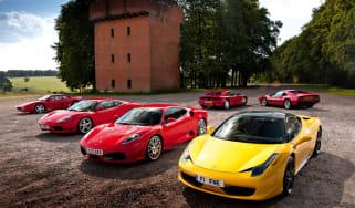 Ferrari 458 Italia meets 308, 348, F355, 360 and F430
