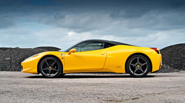 Ferrari 458 Italia side profile