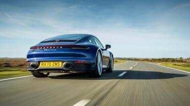 Porsche 911 Carrera S manual blue - rear tracking