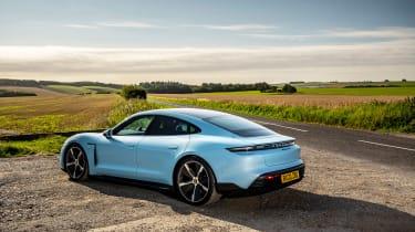 Porsche Taycan 2021 review - 4S rear quarter