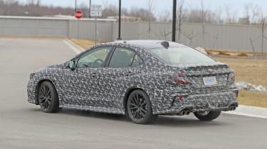 2021 Subaru WRX spied - rear quarter
