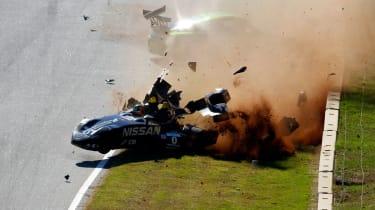 Nissan DeltaWing crash video
