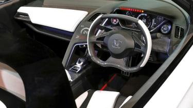 Honda S660 sports car concept interior steering wheel