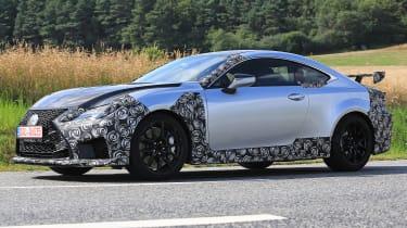 Lexus RC F GT spy - quarter