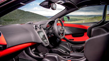 992 GT3 group test – 600LT interior