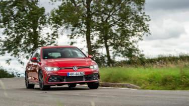 Best hot hatchbacks 2021 - Volkswagen Golf GTI cornering