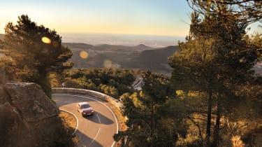 BMW 320d on nice Spanish roads