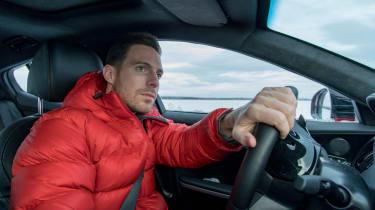 Kia Stinger GT prototype drive Sweden driving