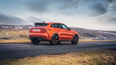 Jaguar F Pace SVR 2021 review - rear pan