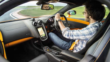 Sub-supercar group test - 570S interior