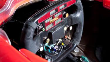 Michael Schumacher's Ferrari F1 car steering wheel