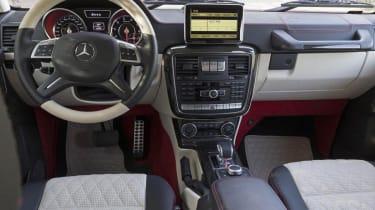 Mercedes G63 AMG 6x6 six wheeler interior dashboard