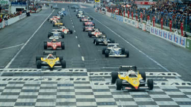 1983 French Gran Prix at Paul Ricard - Alain Prost in pole driving the Renault RE40