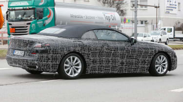 BMW 8-series Cabriolet spied - rear