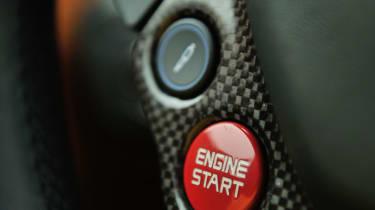 Ferrari F12 engine start steering wheel buttons