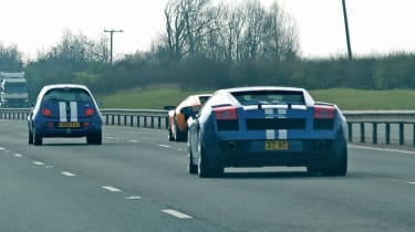 Lamborghini Gallardo and Ford Ka