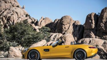 Mercedes-AMG GT C Roadster - side roof down