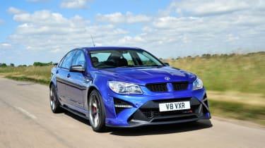 Vauxhall VXR8 GTS-R blue - UK car front