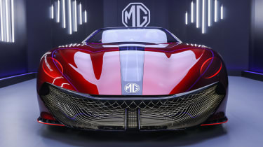 MG Cyberster Roadster concept – nose