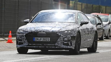 Audi A7 spied - front