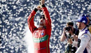 Lucas di Grassi celebrates Formula E title win