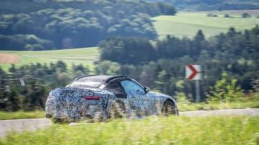 Mercedes SL spy 2020 - rear pan
