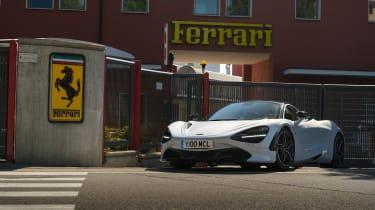 McLaren 720S in Italy - front of Ferrari