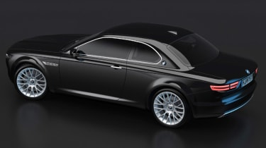 BMW CS Vintage Concept black rear