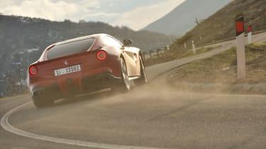 Ferrari F12 cornering