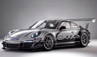 Porsche 991 GT3 racing car at Autosport show