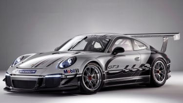Porsche 991 GT3 racing car at Autosport show