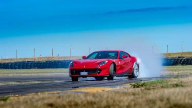 Ferrari 812 Superfast Anglesey - sliding