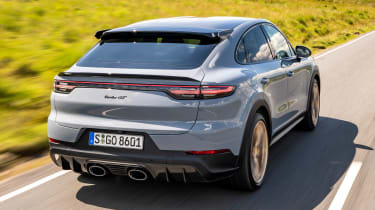 Porsche Cayenne Coupe Turbo GT – rear tracking