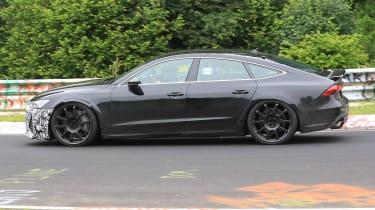 Audi RS7 spy - side