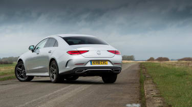 Mercedes-Benz CLS 400d rear three quarters