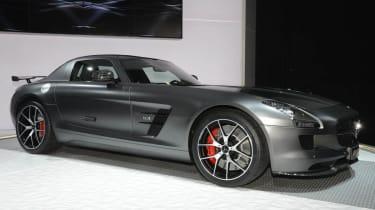 Mercedes SLS AMG GT Final Edition grey side profile
