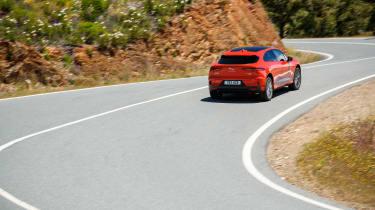 Jaguar I-Pace driving - rear