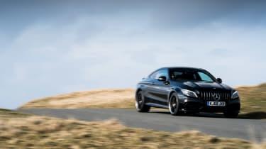 Mercedes-AMG C63 S Coupe black - front