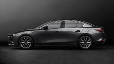 Mazda 3 saloon revealed - side