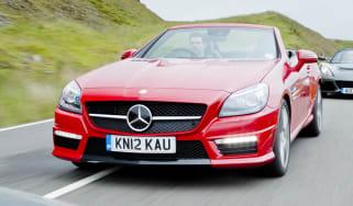 Mercedes SLK55 AMG red front